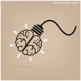 Fondo creativo del concepto de la idea del cerebro Fotos de archivo