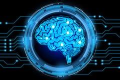 Fondo creativo del concepto del cerebro Foto de archivo libre de regalías