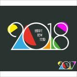 Fondo creativo del diseño de la Feliz Año Nuevo 2018 Feliz Año Nuevo Fotografía de archivo