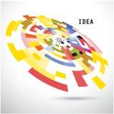 Fondo creativo del diseño del logotipo del vector del extracto del círculo Corporat Imagen de archivo libre de regalías