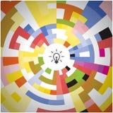 Fondo creativo del diseño del logotipo del vector del extracto del círculo Corporat Imagen de archivo