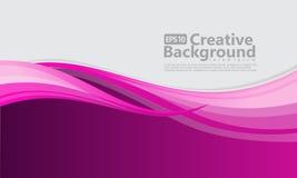 Fondo creativo del nuevo estilo abstracto de la onda stock de ilustración