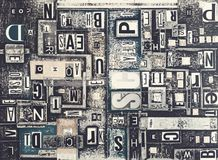 Fondo creativo del periódico del Grunge Fotografía de archivo libre de regalías