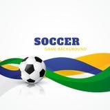 Fondo creativo del vector del fútbol stock de ilustración
