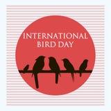 Fondo creativo dell'estratto di vettore per il giorno internazionale dell'uccello Fotografie Stock