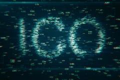 Fondo creativo di ICO illustrazione di stock