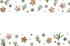 Fondo creativo di Natale con le stelle Fotografia Stock Libera da Diritti