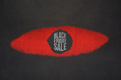 Fondo creativo di vendita di Black Friday fotografia stock