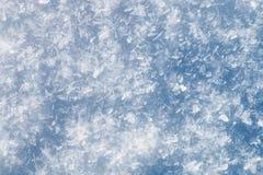 Fondo creted da molti fiocchi della neve Fotografia Stock