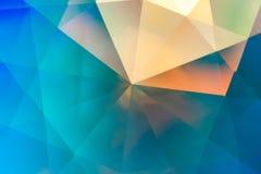 Fondo cristalino abstracto de las refracciones Fotografía de archivo libre de regalías