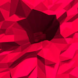 Fondo cristalino rojo del polígono bajo abstracto Foto de archivo