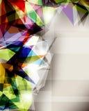 Fondo cristallizzato estratto Fotografia Stock