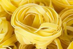 Fondo crudo de la comida de las pastas italianas Fotografía de archivo