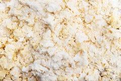 Fondo crudo de la pasta, migajas brillantes para los artículos de panadería fotografía de archivo
