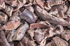 Fondo crudo dei punti del cacao Fotografie Stock Libere da Diritti