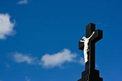 Fondo cruzado cristiano Fotografía de archivo