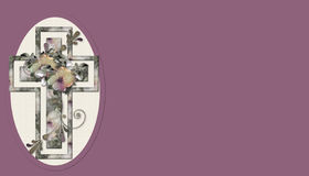 Fondo cruzado cristiano floral 4 Fotografía de archivo libre de regalías
