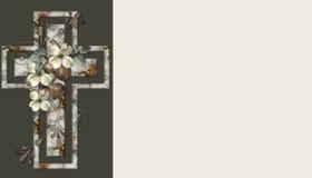 Fondo cruzado cristiano floral 5 Imagen de archivo libre de regalías
