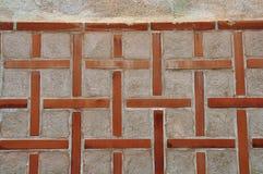 Fondo cruzado de la pared de la iglesia del modelo Foto de archivo libre de regalías
