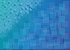 Fondo cuadrado abstracto azul stock de ilustración