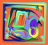 Fondo cuadrado abstracto, fondo geométrico colorido de lujo del shapera, formas geométricas coloridas de lujo 17 -258 Imagenes de archivo