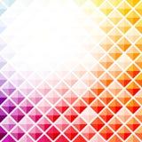 Fondo cuadrado colorido abstracto del modelo Stock de ilustración