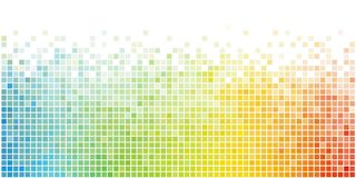 Fondo cuadrado colorido abstracto del mosaico stock de ilustración