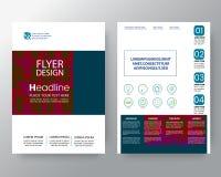 Fondo cuadrado colorido moderno abstracto para la plantilla del vector de la disposición de diseño del aviador del folleto del ca ilustración del vector