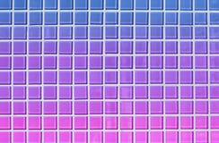 Fondo cuadrado de la teja del extracto azul, púrpura y rosado del estilo brillante 80s ilustración del vector