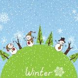 Fondo cuadrado del invierno Foto de archivo
