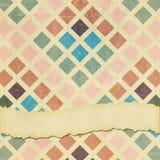 Fondo cuadrado descolorado y llevado de los cubos Imagen de archivo