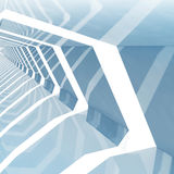Fondo cuadrado entonado azul abstracto 3d del CG Foto de archivo