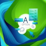 Fondo cuadrado giratorio del remolino, rectángulos del color con efecto de mezcla del escalonamiento con infographics de la muest stock de ilustración