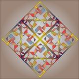 Fondo cuadrado multicolor abstracto Stock de ilustración