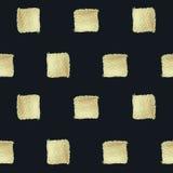 Fondo cuadrado Pintura de oro Modelo inconsútil Foto de archivo libre de regalías