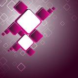 Fondo cuadrado rosado abstracto Fotos de archivo