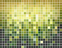 Fondo cuadrado verde y amarillo abstracto del mosaico Imágenes de archivo libres de regalías