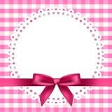 Fondo a cuadros con la servilleta y la cinta Imágenes de archivo libres de regalías