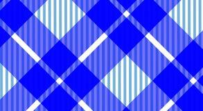 Fondo a cuadros de la guinga azul y blanca del mantel Textura f libre illustration