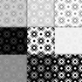Fondo a cuadros de la tela Modelo inconsútil blanco y negro Foto de archivo libre de regalías
