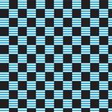 Fondo a cuadros rayado blanco azul del negro del modelo Fotografía de archivo