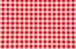 Fondo a cuadros rojo y blanco Foto de archivo libre de regalías