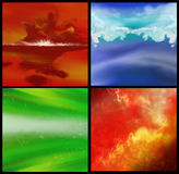 Fondo cuatro coloridos foto de archivo libre de regalías