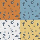 Fondo cuatro en diversos colores Foto de archivo