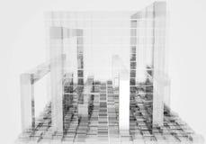 Fondo cubico bianco astratto - rappresentazione 3D royalty illustrazione gratis