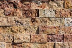 Fondo cubico decorativo della parete di pietra Fotografia Stock