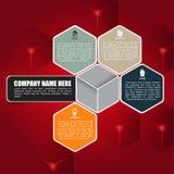 Fondo cubico rosso per l'opuscolo o il web Fotografie Stock Libere da Diritti
