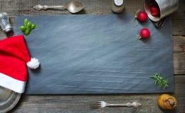 Fondo culinario astratto di Natale fotografie stock