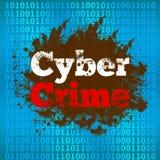 Fondo cyber del file binario di crimine Fotografia Stock Libera da Diritti