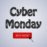 Fondo cyber di lunedì illustrazione di stock